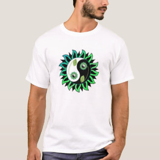 Flor de Yin-Yang Camiseta