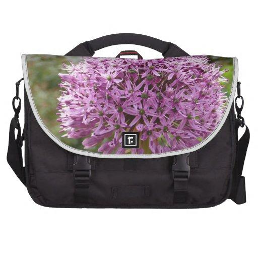 Flor del allium de Violett Bolsas De Ordenador