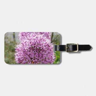 Flor del allium de Violett Etiqueta De Equipaje