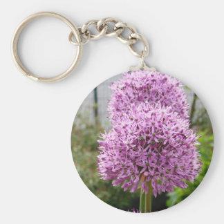 Flor del allium de Violett Llaveros Personalizados