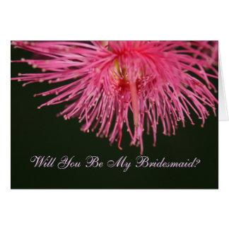 Flor del árbol de goma usted será mi tarjeta de la