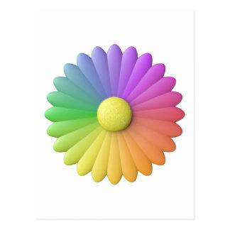 flor del arco iris postal