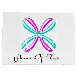 Flor del bolso del regalo de la esperanza bolsa de regalo grande