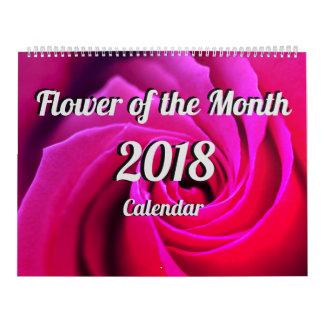 Flor del calendario del mes 2018