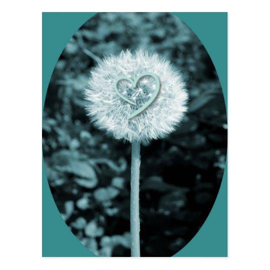 Flor del corazón del blume de Herz Postal