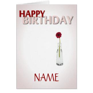 Flor del cumpleaños tarjeta de felicitación