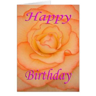 Flor del feliz cumpleaños tarjeta de felicitación