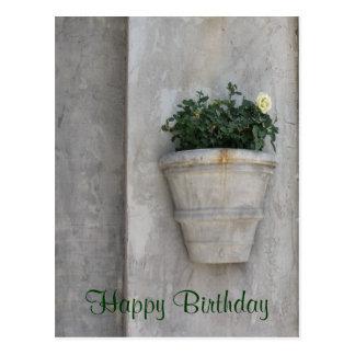 Flor del feliz cumpleaños postal