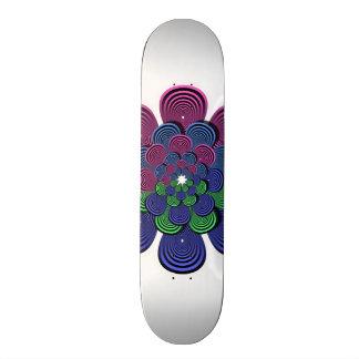 Flor del fractal monopatín personalizado