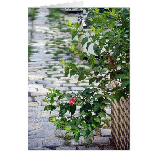 Flor del guijarro tarjeta pequeña
