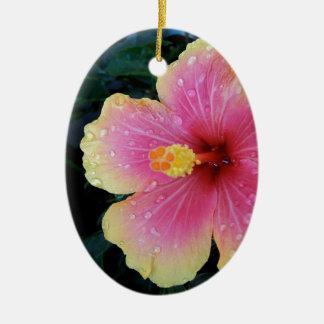 Flor del Hawaiian del hibisco Adorno De Cerámica