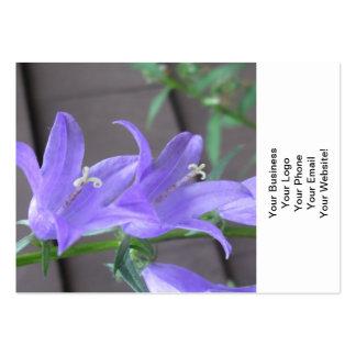 Flor del jardín del Campanula Tarjetas De Visita Grandes