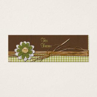 Flor del libro de recuerdos del país tarjeta de visita mini