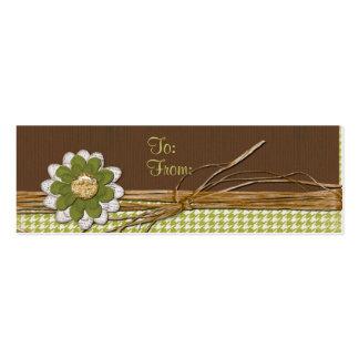 Flor del libro de recuerdos del país tarjetas de visita mini