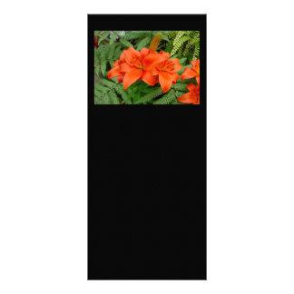 Flor del lirio - naranja iridiscente (Matt 28-30) Lona