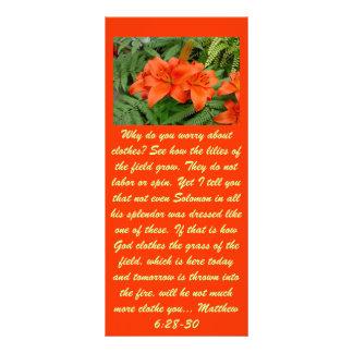 Flor del lirio - naranja iridiscente (Matt 28-30) Tarjetas Publicitarias Personalizadas