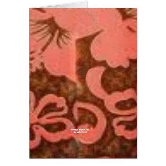 Flor del melocotón del hibisco (impresión de la ha tarjeta de felicitación