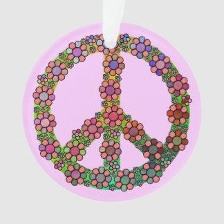 Flor del símbolo del signo de la paz colorida