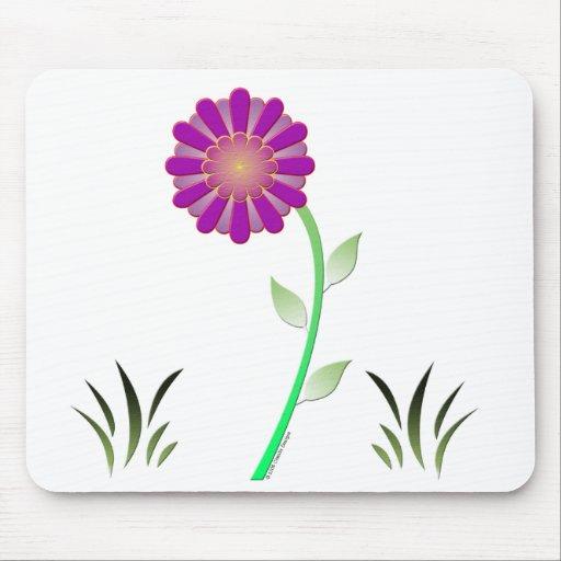 Flor del vector tapetes de raton