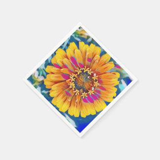 Flor del verano en la plena floración servilleta desechable