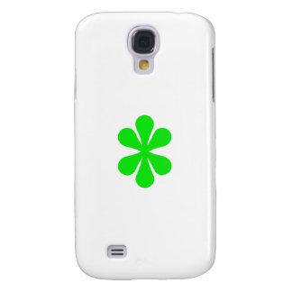 Flor del verde de la caja de la galaxia de Samsung Funda Para Galaxy S4