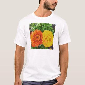Flor doble del problema camiseta