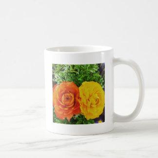 Flor doble del problema taza de café
