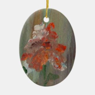 Flor elegante floral impresionista bonita adorno de cerámica