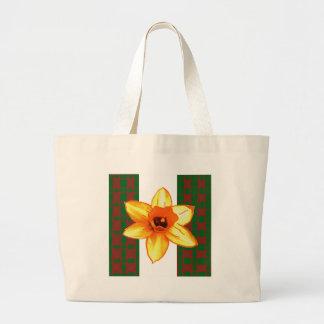 Flor exótica salvaje elegante del cactus en los bolsas lienzo