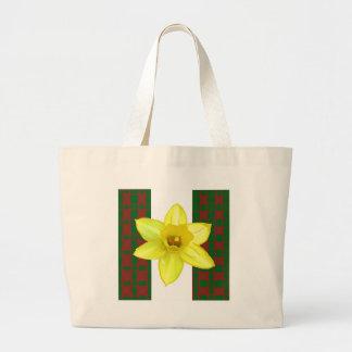Flor exótica salvaje elegante del cactus en los bolsa tela grande