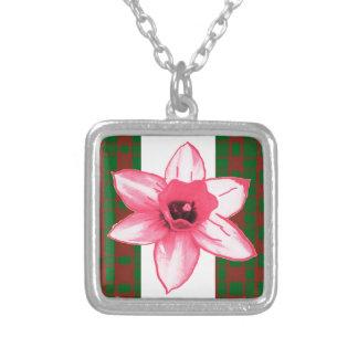Flor exótica salvaje elegante del cactus en los colgante cuadrado