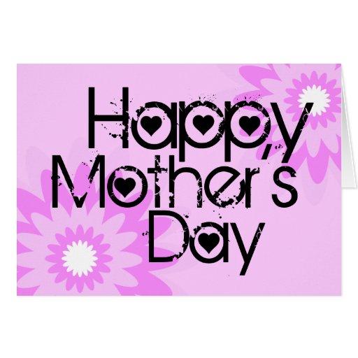 Flor feliz 1 de la tarjeta del día de la madre