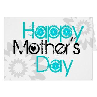 Flor feliz 2 de la tarjeta del día de la madre