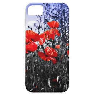 Flor floral de la amapola de las amapolas funda para iPhone SE/5/5s