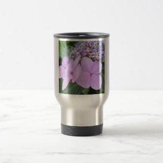 Flor floreciente púrpura del Hydrangea Taza De Viaje