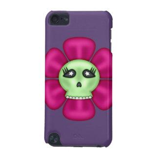 Flor fresca del cráneo del zombi carcasa para iPod touch 5G