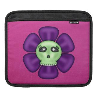 Flor fresca del cráneo del zombi funda para iPad