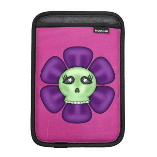 Flor fresca del cráneo del zombi funda para iPad mini