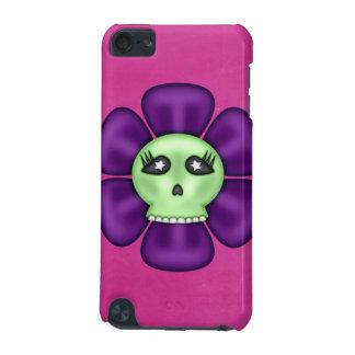 Flor fresca del cráneo del zombi funda para iPod touch 5G