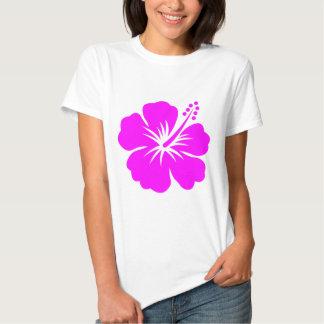 Flor fucsia del hibisco camiseta