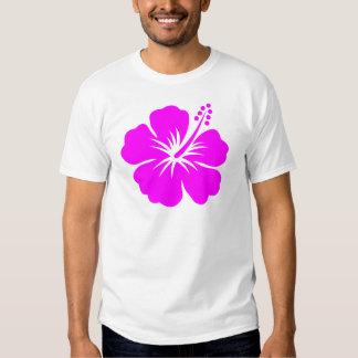 Flor fucsia del hibisco camisetas