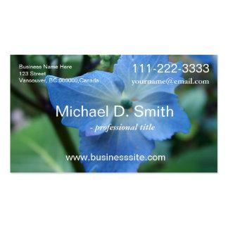 flor grande azul hermosa del hydrangea de la hoja plantillas de tarjetas personales