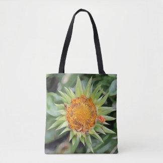 Flor grande un la Van Gogh en una bolsa de asas