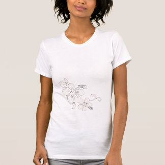 Flor hawaiana camisetas