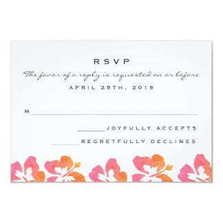 Flor hawaiana del hibisco de la acuarela que casa invitación 8,9 x 12,7 cm