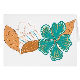 flor hawaiana tarjetas
