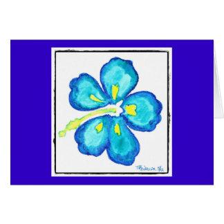 Flor hawaiana tarjeta de felicitación