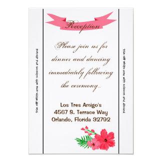 flor Hawaii del hibisco de la primavera de la Invitación 12,7 X 17,8 Cm