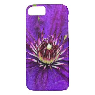 Flor hermosa del clematis púrpura funda iPhone 7