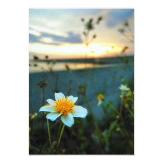 flor hermosa invitación 12,7 x 17,8 cm